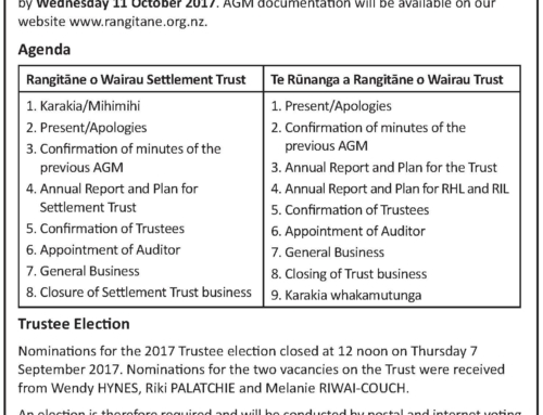 Further Notice of Trustee Election & AGMs